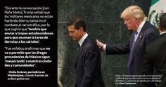 El Presidente de Estados Unidos, Donald Trump, comunicó a su homólogo mexicano, Enrique Peña Nieto, que Estados Unidos no necesita a México y, en tono amenazante, sugirió que si las fuerzas armadas mexicanas son incapaces de combatir el narcotráfico, quizá tenga que enviar tropas estadounidenses a M