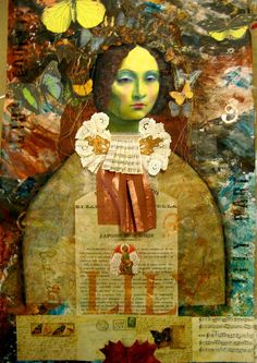 Stamping & mixed media. From Lynne Perrella workshop.