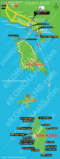 How to getting there - Koh Kood Map