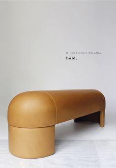 Bold by Milena Denis. Bench Furniture, Home Decor Furniture, Furniture Projects, Furniture Design, Decoration Inspiration, Furniture Inspiration, Sofas, Bench Designs, Modern Bedroom Design