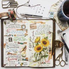 Keeping an art journal or scrapbook. Ideas and inspiration for travel journaling