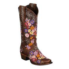 "Lane Boots ""Valentine"" Women's Cowboy Boot Brown 7.0 D(M) US"