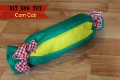 DIY Water Bottle Dog Toy - Easy to make and easy on the budget. This toy is made from a recycled water bottle and some felt!