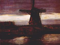 Stammer Mill with Streaked Sky, 1905-1906 Piet Mondrian