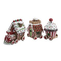 Kurt Adler Claydough LED Gingerbread Train Set of ** Final call for this special discount : Collectible Figurines for Christmas Gingerbread Train, Gingerbread Christmas Decor, Gingerbread Decorations, Christmas Store, Christmas Treats, Christmas Decorations, Xmas, Gingerbread Houses, Christmas Parties