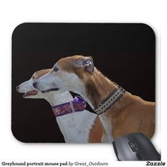 Greyhound portrait mouse pad