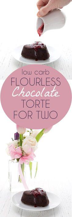 Easy Keto Flourless Chocolate Torte Recipe.   @dreamaboutfood
