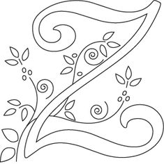 Monogram for hand embroidery letter z hand embroidery free one of the designs in my alphabet soup embroidery quilt pattern shawkl spiritdancerdesigns Choice Image