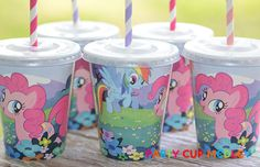 My Little Pony Birthday Party Cups- Birthday Party Cups-Set of 8