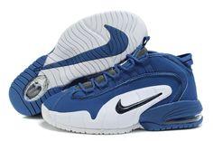 2012 Mens Nike Air Max Penny 1 Sneakers Deep Blue/White/Black
