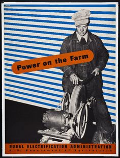 Title :     Power on the Farm Artist:     Lester Beall Designer Rural Electrification Administration, US Department of Agric Publisher