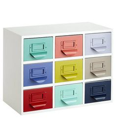 Color Reference Drawers | Send kids back to the classroom with these cool updates on old-school favorites.