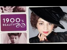 1900s Gibson Girl Beauty Tutorial ∞ Throwback Beauty - YouTube