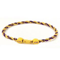 LSU Titanium Necklace