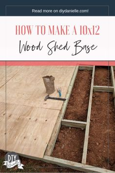How to build a shed base from Ace ShedsHow do I build a shed base? Building a shed baseHow to build a shed base with paving stones in 10 easy stepsIn 10 simple steps you Wood Shed Plans, Diy Shed Plans, Storage Shed Plans, Dyi Shed, Cabin Plans, Backyard Sheds, Outdoor Sheds, Building A Shed Base, Building Ideas