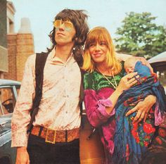 Keith Richard, Anita Pallenberg, and their son Marlon Richard