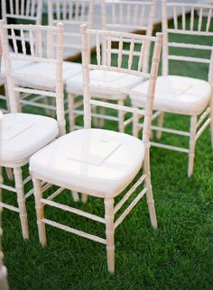 Elegant chairs for the Ceremony. | Chairs by Niche Event Rentals | Photography by KT Merry Photography #AnnaLuciaEvents #KTMerryPhotography