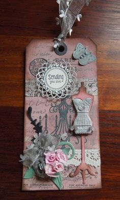 Paris themed Gift Tag by charlie horse - Cards and Paper Crafts at Splitcoaststampers