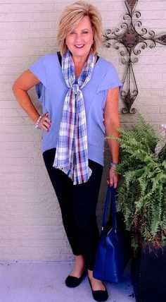 50 IS NOT OLD | BLACK AND BLUE | Accessories | Transition Outfit | Fashion over 40 for the everyday woman