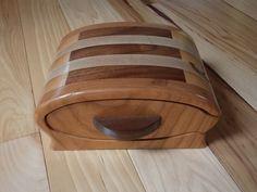 Bandsaw Box Cherry, Walnut, Maple  Inlay 2 Drawer Jewelry, Ring, Bracelet and Trinket Box by JandCWorkshop on Etsy