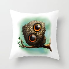 20% Off + Free Shipping Today! Lovely Owl Throw Pillow by Shinja | Society6