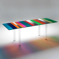 Glas Italia Dark Side of the Moon Coffee and Dining Tables