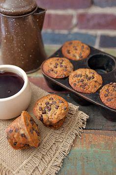 Banana Chocolate Chip muffins--skip the pecans, use mini chocolate chips.