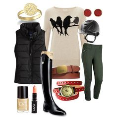 OOTD: bird sweater - Polyvore. Yay! Fashion For people who actually ride horses.