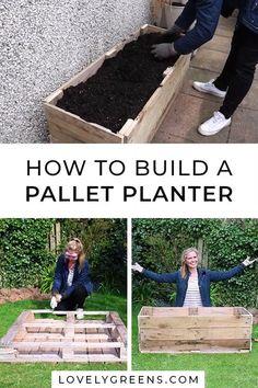 Pallet Planter Box, Garden Planter Boxes, Vegetable Planter Boxes, Building Planter Boxes, Raised Garden Planters, Raised Planter Boxes, Planter Beds, Raised Gardens, Diy Garden Bed