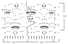 """Estola a ganchillo DROPS con patrón de abanicos en """"Baby  Merino"""". ~ DROPS Design  http://www.garnstudio.com/lang/es/pattern.php?id=7148&lang=es"""