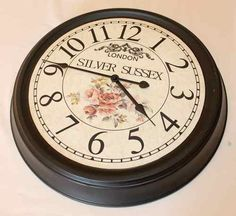 Relógio,vintage,antigo,parede Maravilhoso Relógio Vintage - R$ 113,98