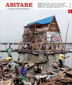 "The Floating Public School of Makoko by NLÉ architects, photographed by Iwan Baan, creates a new symbolic focus & identity for the Makoko fishing community (Lagos, Nigeria), where families live on stilt-houses in the lagoon of an ever-growing megalopolis. An architectural construction in local wood made using ""techniques"" developed by the community, & floated on salvaged plastic drums could become a development model for Makoko & the ever-growing communities on Africa's coast."
