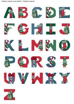 alfabeto natalizio