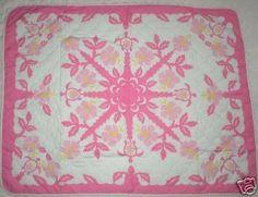 4-Ps-Infant-Baby-Hawaiian-Quilt-Print-Blanket-Set-PINK