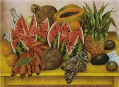 The Bride Frightened at Seeing Life Opened - Frida Kahlo Fecha de finalización: 1943 Estilo: Arte Naíf (Primitivismo) Genero: naturaleza muerta Técnica: óleo Material: canvas Dimensiones: 63 x 81,5 cm Galeria: Collection of Jacques and Natasha Gelman Mexico City, Mexico