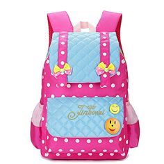 Kidstree Girls School Backpack Polka Dot Bowknot Bookbag Light Blue *** Read more reviews of the product by visiting the link on the image.