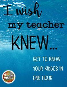 I wish my teacher knew ~ a gamechanger - Suburban Snow WhiteSuburban Snow White Middle School Ela, Middle School Classroom, 1st Day Of School, Beginning Of The School Year, First Day Of School Activities, Gymnasium, Teaching Tips, Teaching Reading, My Teacher