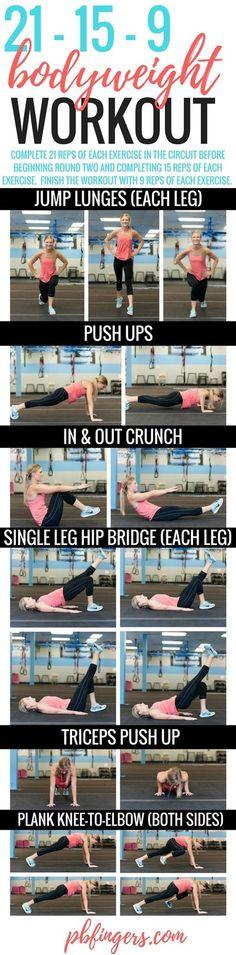 21-15-9 Bodyweight Workout | Peanut Butter Fingers | Bloglovin'