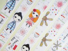 DIY KIDS Craft supply 4 Cartoon Tape Rolls by TheSupplyDestash