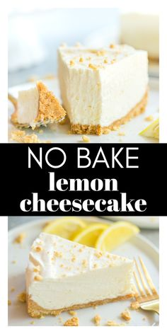 This easy No Bake Lemon Cheesecake recipe is perfect for a hot summer day! When you don't want to have the oven on, but need a delicious dessert, no bake cheesecake is the way to go! The filling only has four ingredients and the crust is made with Golden Oreos and butter. YUM!
