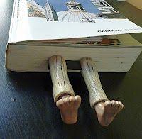 Bookmark feet
