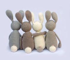 """Für Babys - """"Stupshase"""" – Kuscheltier, Hase - ein Designerstück von eineIdee bei DaWanda"""