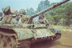 "Croatian T-55A tank called ""Benston""."