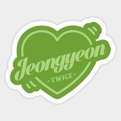 Twice Bias Jeongyeon - Twice Kpop - Sticker Pop Stickers, Printable Stickers, Logo Twice, Kpop Diy, Overlays, Bullet Journal Notes, Disney Mugs, Polaroid, Name Logo