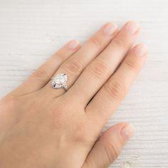 1.15 Carat Art Deco Diamond & Sapphire Vintage Engagement Ring   Erstwhile Jewelry Co.