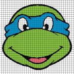 Teenage Mutant Ninja Turtles – Leonardo (Chart/Graph AND Row-by-Row Written Crochet Instructions) – 01