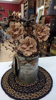 Shabby style...I would change the floral colors and change it up for the holidays.