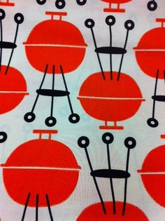 Grills Cookout BBQ Summer Time Grilling Cooking Food Cotton Fabric Quilting Fabric CR290