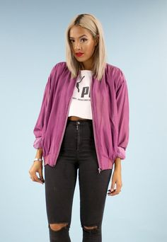 90s Vintage Oversized Silk Bomber Jacket | House of Jam | ASOS Marketplace