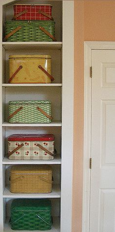 Vintage Picnic Tins, could double as storage containers and well as a collection